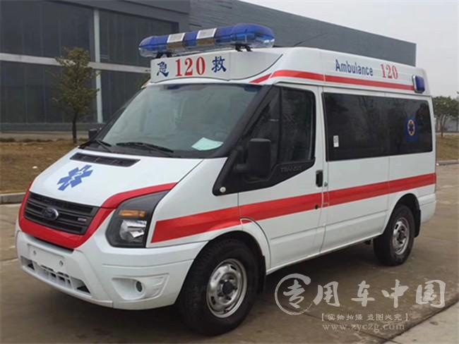 福特V348短轴中顶救护车图片
