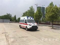 5台江铃救护车发车 江铃特顺救护车顺利提车