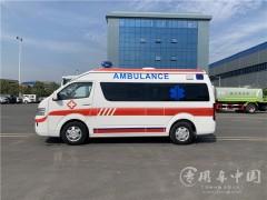 6台福田5G医疗急救车发车 福田救护车提车成功