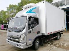 福田奥铃CTS4.1米肉钩冷藏车配置说明 福田冷藏车动态