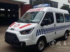2台江铃特顺防疫用特种救护车发车 江铃特顺救护车提车了