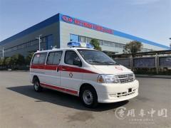 2台金杯防疫用特种救护车出发了 金杯救护车发车成功