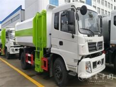 东风专底12方挂桶垃圾车适合短途运输
