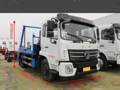 用途广泛的国六东风随专摆臂式垃圾车介绍 垃圾车评测