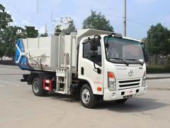 省时省力的国六大运奥普力挂桶垃圾车综合介绍 垃圾车评测