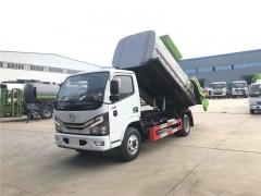 国六东风多利卡D6餐厨垃圾车发车上海