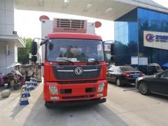 国六东风天锦6.55米冷藏车发车山东济南