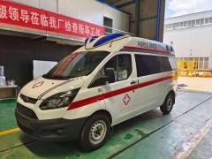 福特全顺救护车检车合格发往贵阳急救中心