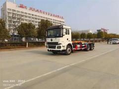 陕汽轩德20方钩臂式垃圾车发往河南南阳砂石工程,售价32.2