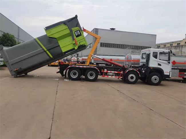 东风华神前四后八25吨钩臂垃圾车