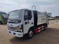 山东济宁程哥订购的6方压缩式垃圾车送到指定地点