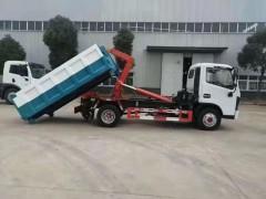 浙江温州市吴总全款购买的东风6方勾臂垃圾车发车