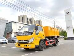 周总网签的福田小型环卫垃圾车今日发往甘肃白银指定地点