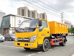 山东济宁艾总订购的福田时代金刚4方勾臂垃圾车今日发车 艾总验车成功